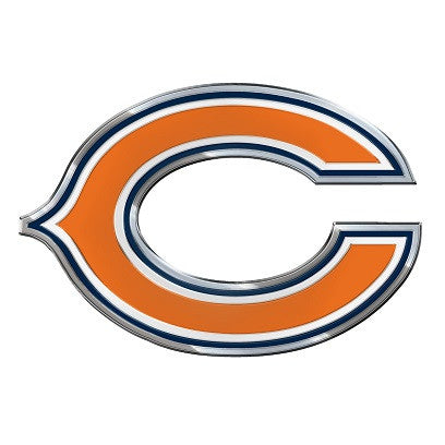 The Chicago Bear logo car and truck emblem for Bears team cars