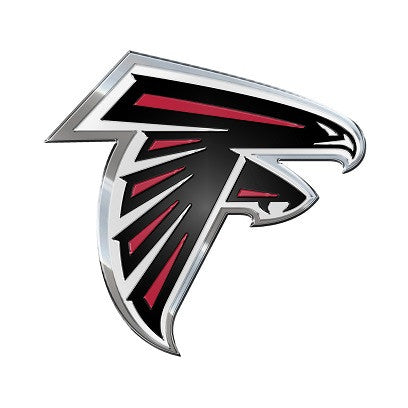 The Atlanta Falcon logo car and truck emblem for Falcons team cars