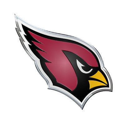 The Arizona Cardinal logo car and truck emblem for Cardinals team cars