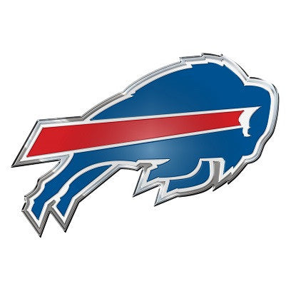 The Buffalo Bill logo car and truck emblem for Bills team cars