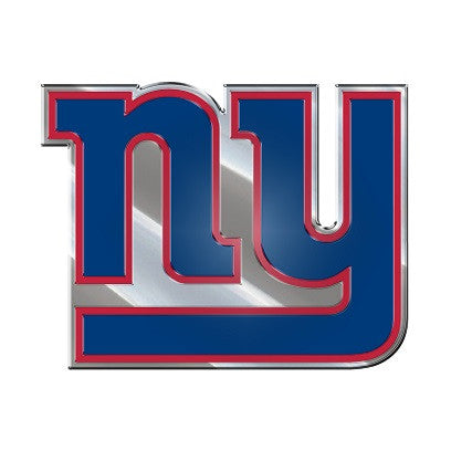 The New York Giant logo car and truck emblem for Giants team cars