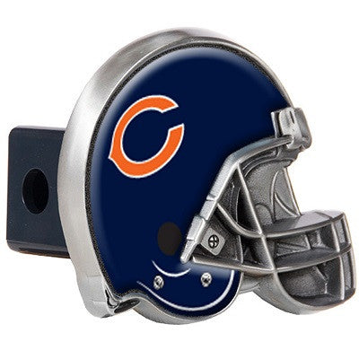 The Chicago Bear Helmet Shaped Trailer Hitch Cover for NFL Bears fan Trucks