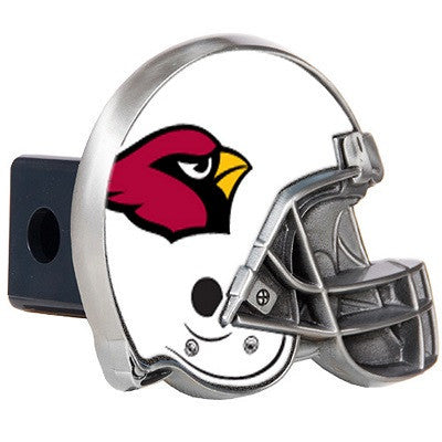 The Arizona Cardinal Helmet Shaped Trailer Hitch Cover for NFL Cardinals fan Trucks