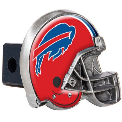 The Buffalo Bill Helmet Shaped Trailer Hitch Cover for NFL Bills fan Trucks
