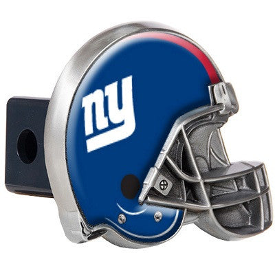 The New York Giant Helmet Shaped Trailer Hitch Cover for NFL Giants fan Trucks