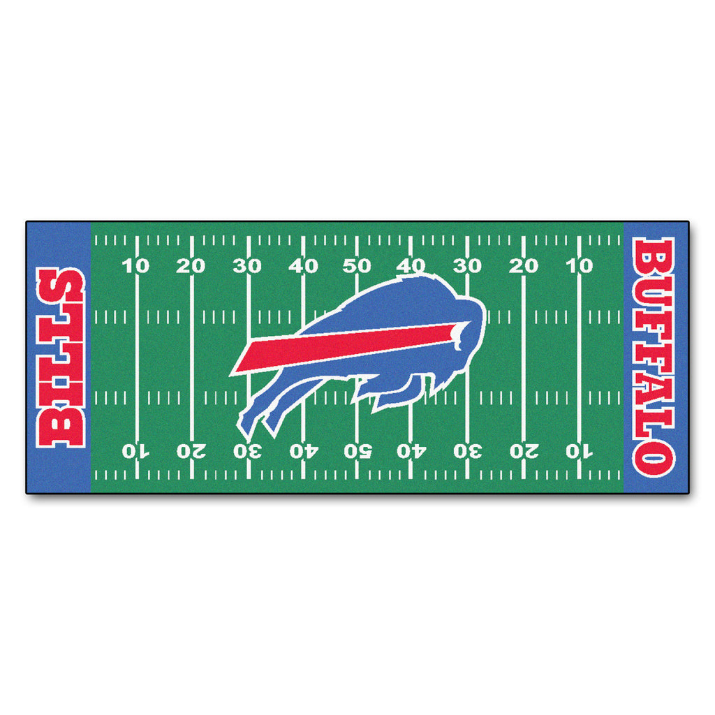 "Football Field Runner (30""x72"") - Buffalo Bills"