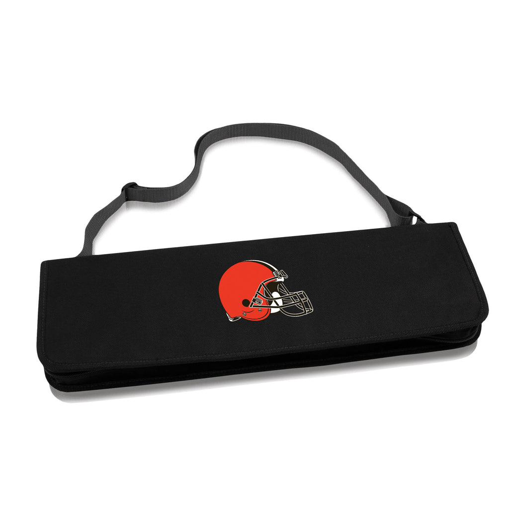 Cleveland Browns Metro BBQ tote Grill tool set for tailgaters