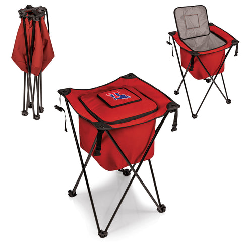 The Louisiana Tech Bulldogs Side Kick Cooler with Stand - Picnic Time 779-00-100-854-0
