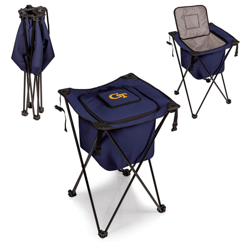 The Georgia Tech Yellow Jackets Side Kick Cooler with Stand - Picnic Time 779-00-138-194-0
