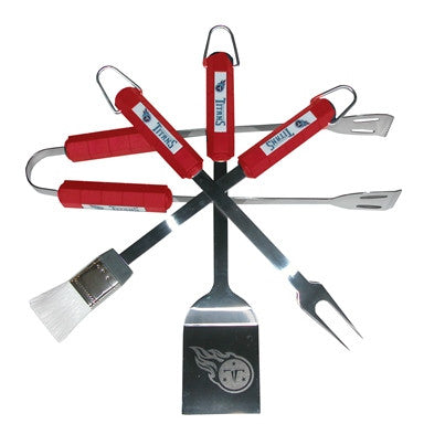 The Tennessee Titan Grill Tool Set with four pieces for Titans fan Grilling