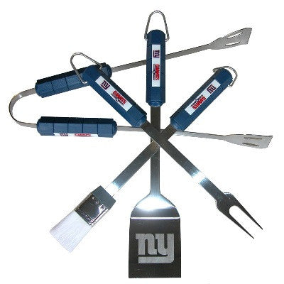 The New York Giant Grill Tool Set with four pieces for Giants fan Grilling
