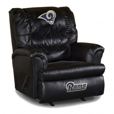 Daddies favorite chair, the Los Angeles Rams Bigger Dad Leathered Recliner