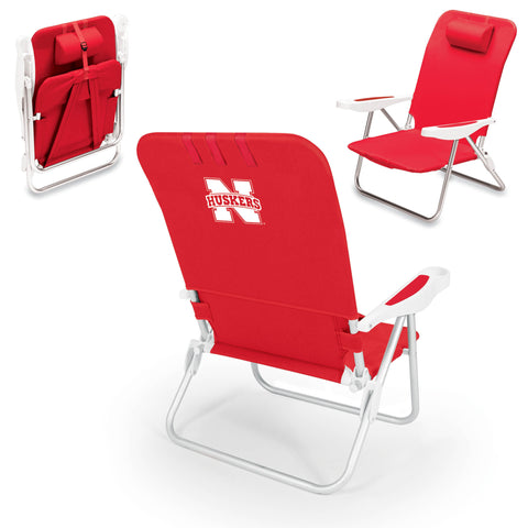Nebraska  Cornhuskers Manaco Beach Chair - Picnic Time 790-00-100-404-0