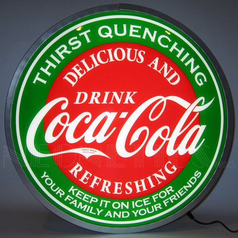 "Neonetics Coca-Cola Evergreen 15"" Backlit LED Lighted Sign - 7CCGRN"