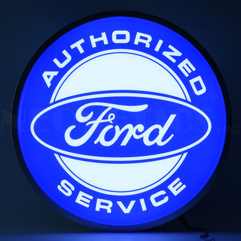 Neonetics Ford Authorized Service 15 Inch Backlit LED Lighted Sign - 7FORDS