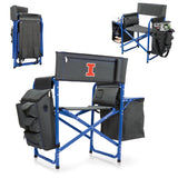 Picnic Time Illinois Fighting Illini Fusion Chair