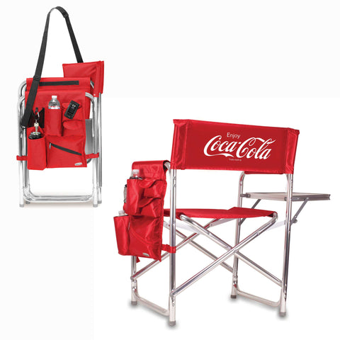 The Coca Cola Sports Chair - Red  - Picnic Time 809-00-100-911-0