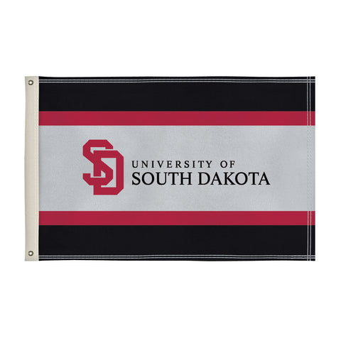 The 2Ft x 3Ft South Dakota Coyotes Flag - Victory Corps 810002USD-001