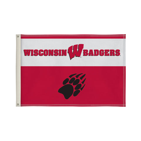 The 2Ft x 3Ft Wisconsin Badgers Flag - Victory Corps 810002WIS-001