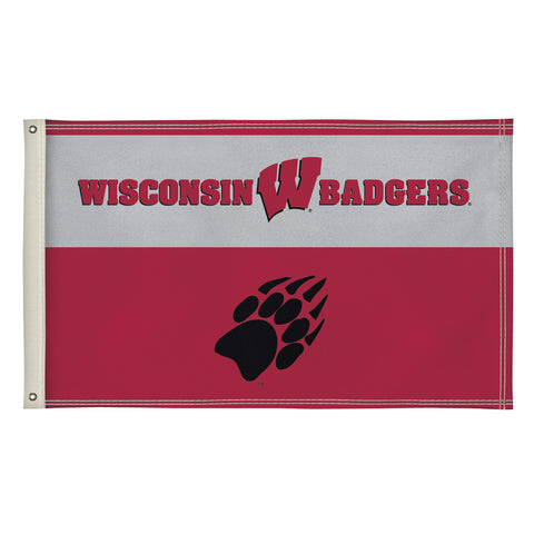 The 3Ft x 5Ft Wisconsin Badgers Flag - Victory Corps 810003WIS-001