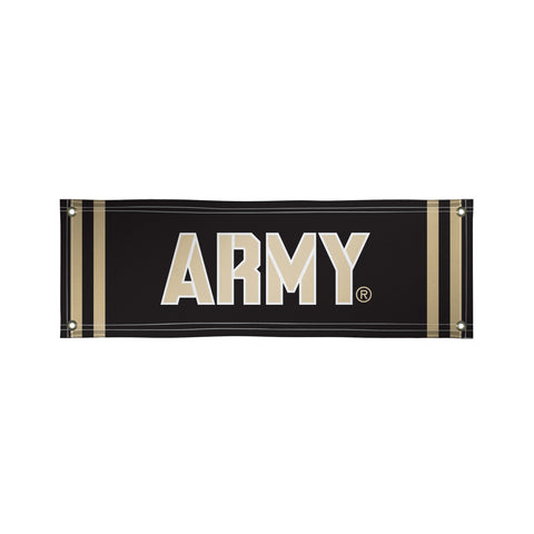 The 2Ft x 6Ft US Army Black Knights Vinyl Fan Banner - Victory Corps 810022ARMY-003