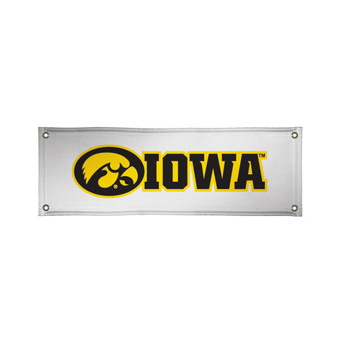 The 2Ft x 6Ft Iowa Hawkeyes Vinyl Fan Banner - Victory Corps 810022IOWA-003