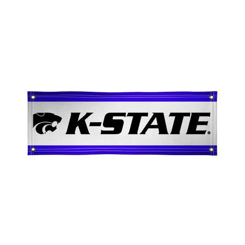 The 2Ft x 6Ft Kansas State Wildcats Vinyl Fan Banner - Victory Corps 810022KSU-001