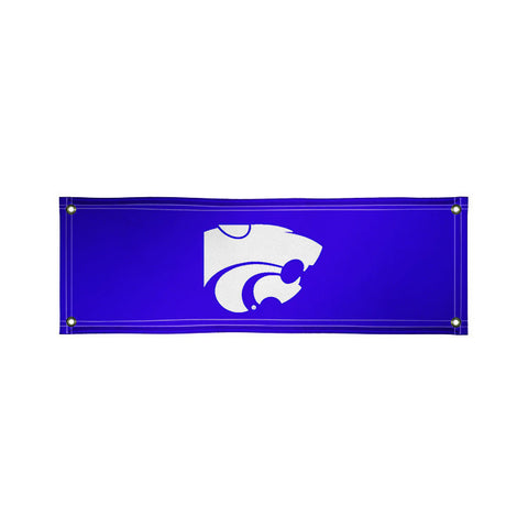 The 2Ft x 6Ft Kansas State Wildcats Vinyl Fan Banner - Victory Corps 810022KSU-002