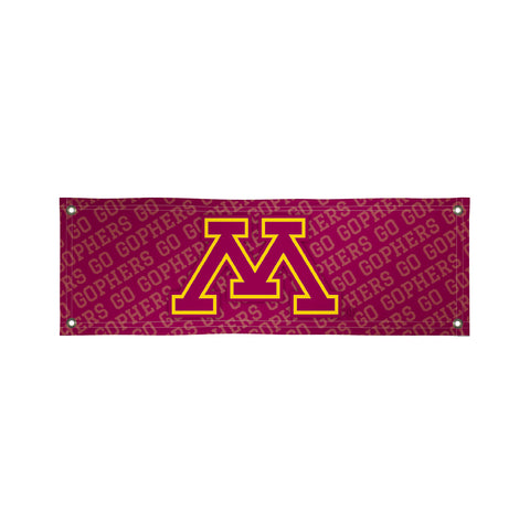 The 2Ft x 6Ft Minnesota Golden Gophers Vinyl Fan Banner - Victory Corps 810022MIN-001