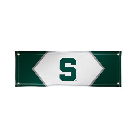 The 2Ft x 6Ft Michigan State Spartans Vinyl Fan Banner - Victory Corps 810022MSU-003