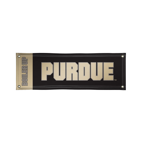 The 2Ft x 6Ft Purdue Boilermakers Vinyl Fan Banner - Victory Corps 810022PUR-003