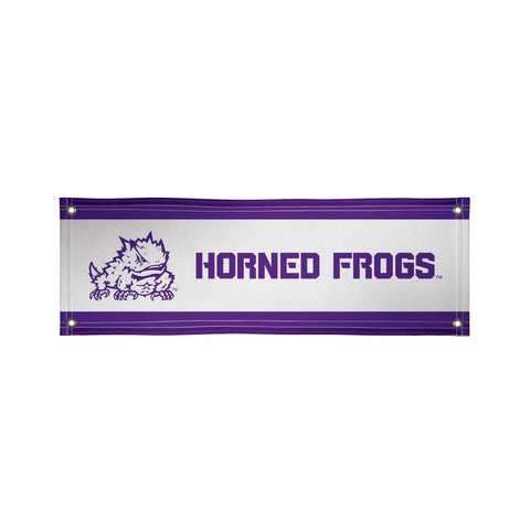 The 2Ft x 6Ft TCU Horned Frogs Vinyl Fan Banner - Victory Corps 810022TCU-001