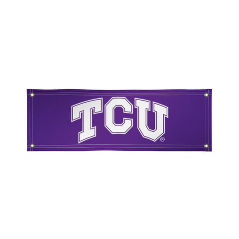 The 2Ft x 6Ft TCU Horned Frogs Vinyl Fan Banner - Victory Corps 810022TCU-002