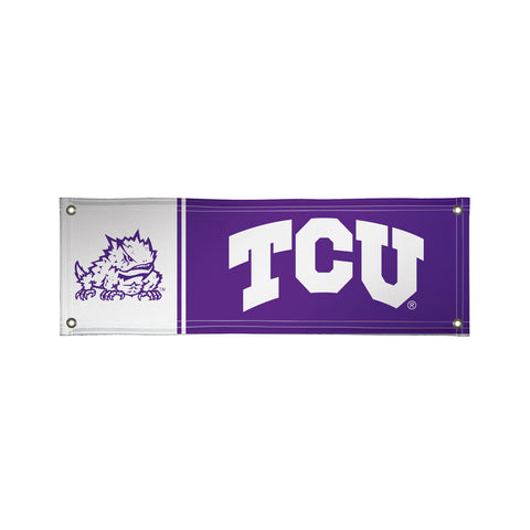 The 2Ft x 6Ft TCU Horned Frogs Vinyl Fan Banner - Victory Corps 810022TCU-003