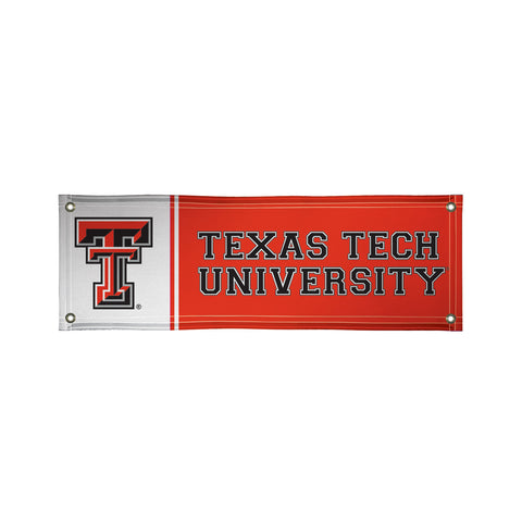 The 2Ft x 6Ft Texas Tech Red Raiders Vinyl Fan Banner - Victory Corps 810022TTU-003