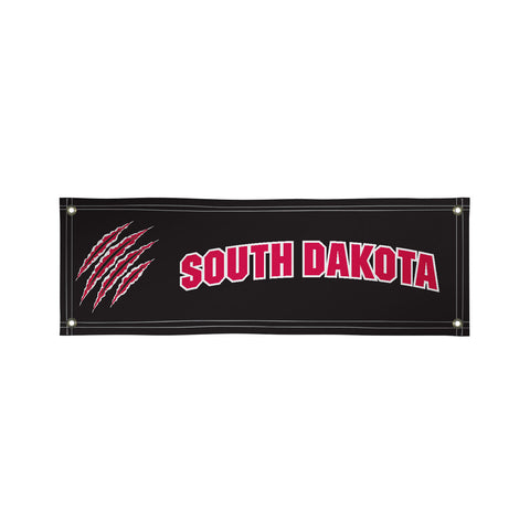 The 2Ft x 6Ft South Dakota Coyotes Vinyl Fan Banner - Victory Corps 810022USD-002