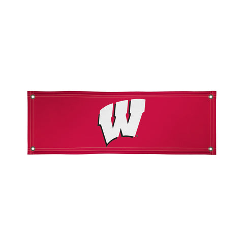 The 2Ft x 6Ft Wisconsin Badgers Vinyl Fan Banner - Victory Corps 810022WIS-002