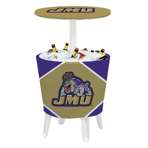 The JMU Dukes Four Seasons Event Cooler Table by Victory Corps - 810024JAMAD-002