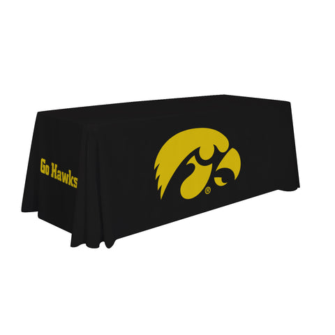 Iowa Hawkeyes 6' Table Cloth Throw Cover by Victory Corps - 810026IOWA-001