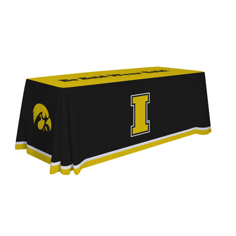 Iowa Hawkeyes 6' Table Cloth Throw Cover by Victory Corps - 810026IOWA-003