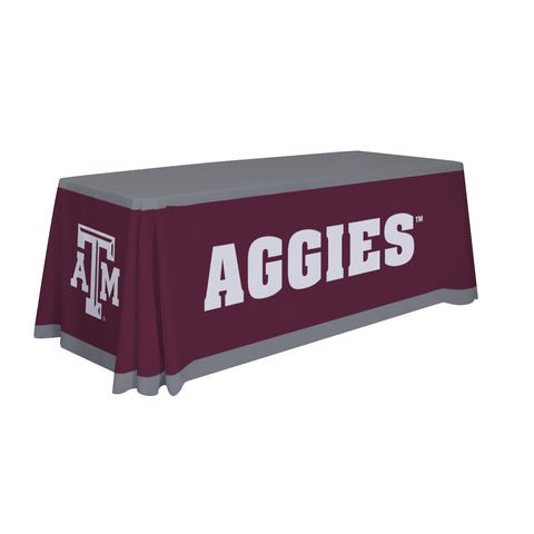Texas A&M Aggies 6' Table Cloth Throw Cover by Victory Corps - 810026TXAM-001