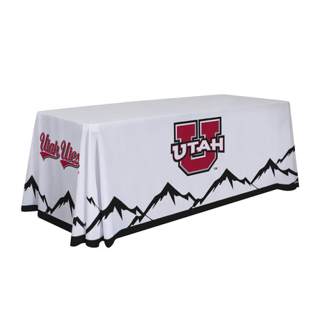 Utah Utes 6' Table Cloth Throw Cover by Victory Corps - 810026UUTAH-002