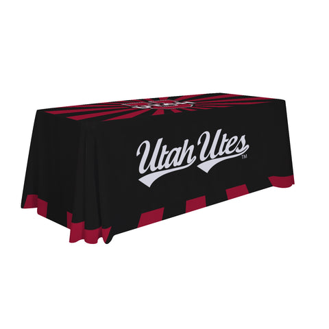 Utah Utes 6' Table Cloth Throw Cover by Victory Corps - 810026UUTAH-003