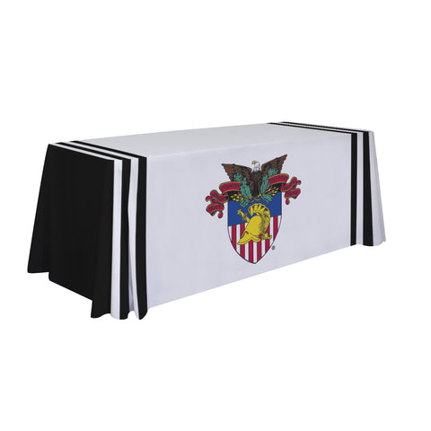 US Army Black Knights 6' Table Cloth Throw Cover by Victory Corps - 810026WPCR-001