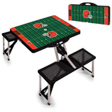 Picnic Time portable picnic table folds up with umbrella Cleveland Browns