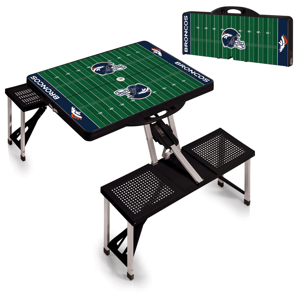 Folding portable Broncos picnic table Denver tail gate