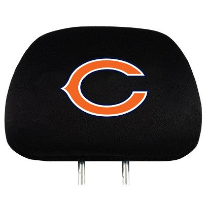 The Chicago Bear Car Head Rest Cover shows your Bears pride while driving