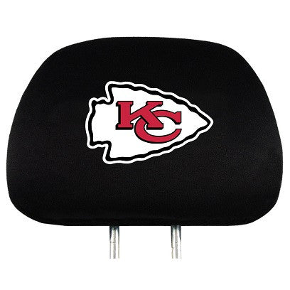 The Kansas City Chief Car Head Rest Cover shows your Chiefs pride while driving