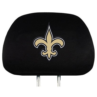 The New Orleans Saint Car Head Rest Cover shows your Saints pride while driving