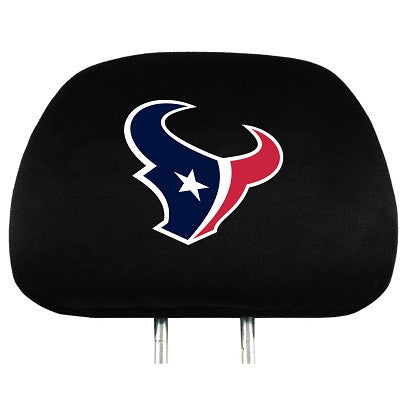 The Houston Texan Car Head Rest Cover shows your Texans pride while driving